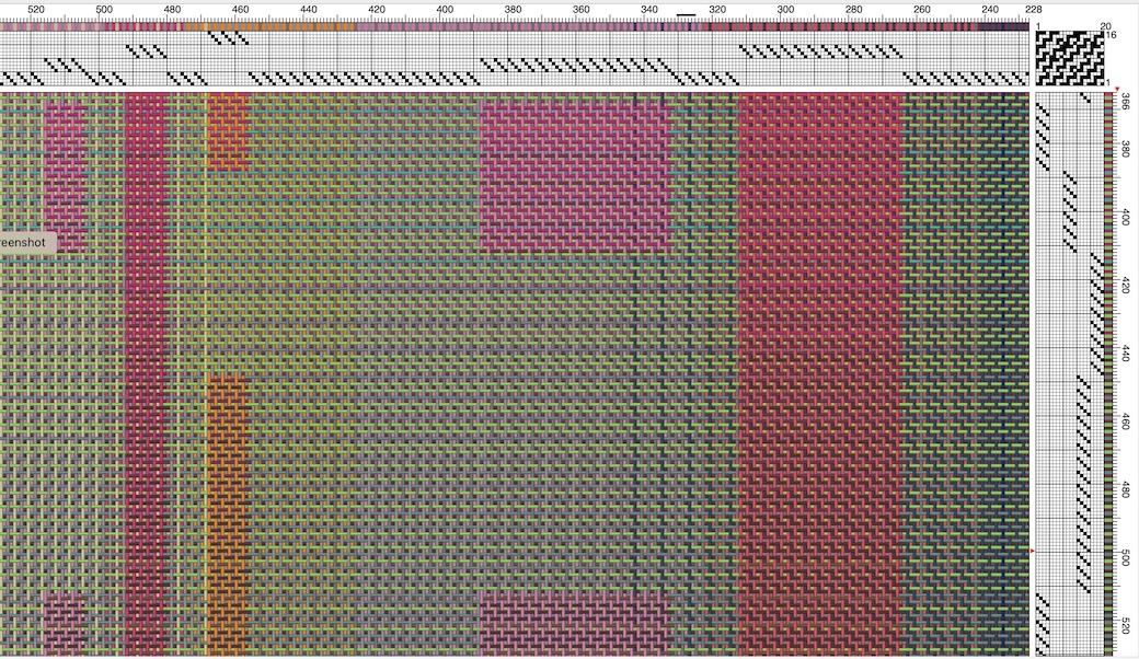 a weaving draft