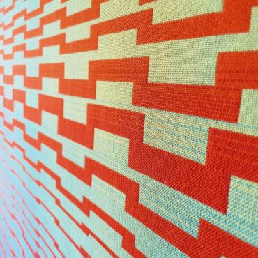 Double Weave 2016 II, Detail. 95 x 105 cm.